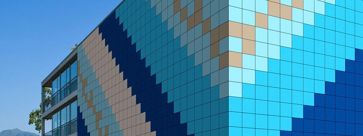вентилируемый фасад из композита