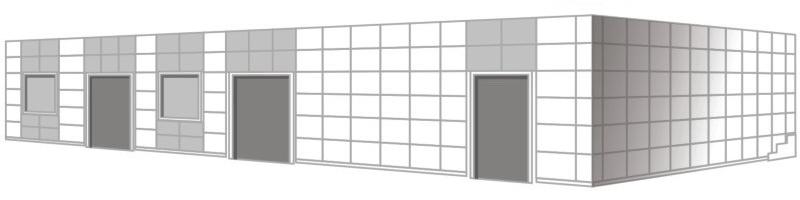пример расцветки фасада из композитных материалов
