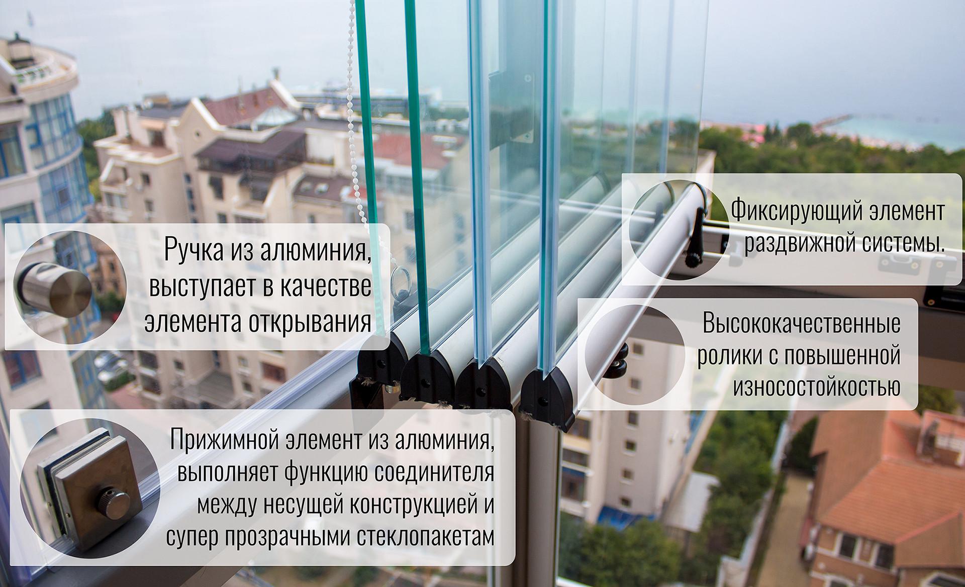 раздвижная стеклянная конструкция