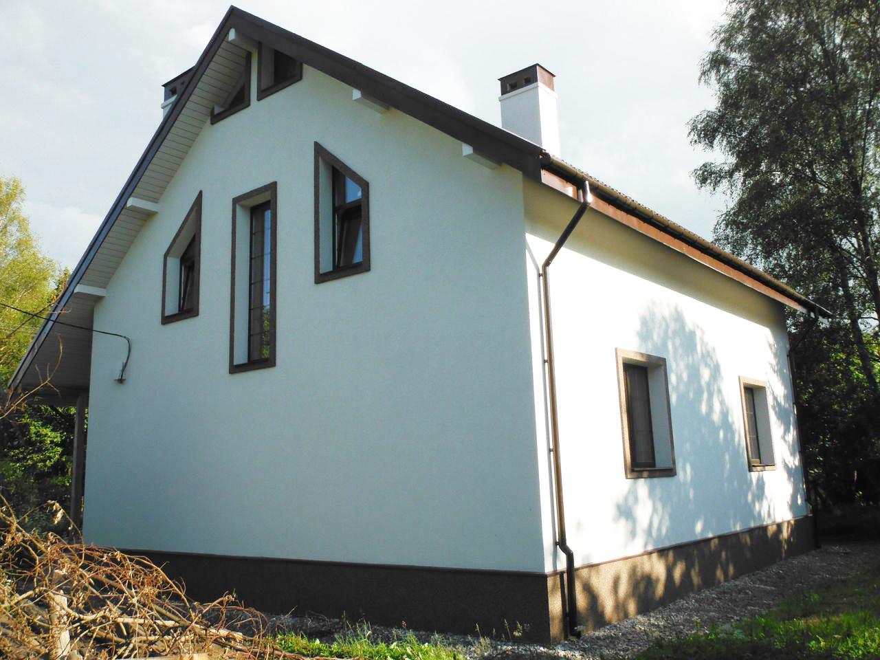 дом после установки мокрого фасада
