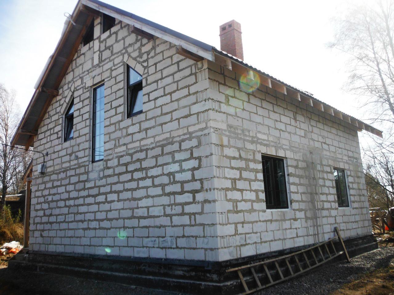 дом до установки мокрого фасада