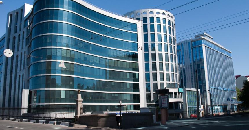 фасад офисного здания мбц1 и мбц2 одесса